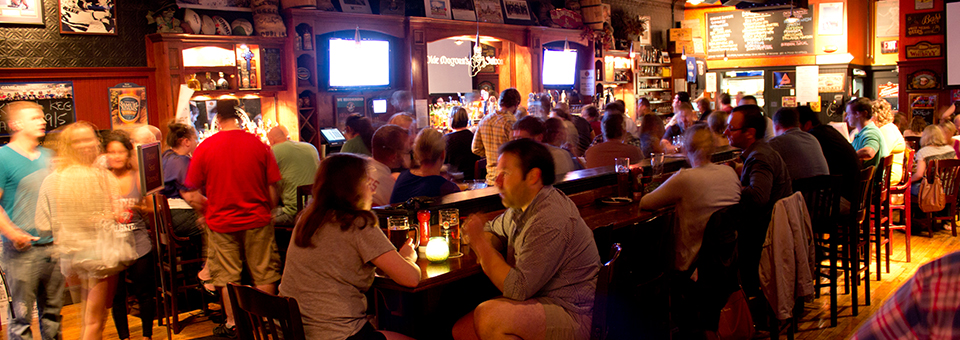 Olde Magouns Saloon, a craft beer and bourbon whiskey bar in Somerville